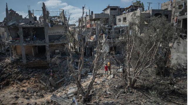 الدمار في بيت حنون في غزة
