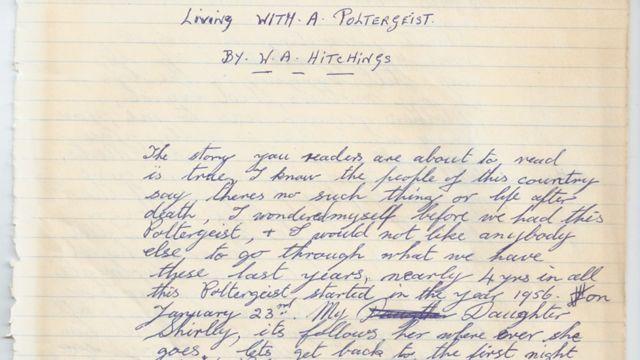 La primera página del diario de Wally Hitchings, el padre de Shirley.