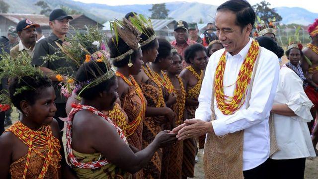 Presiden Jokowi di Papua