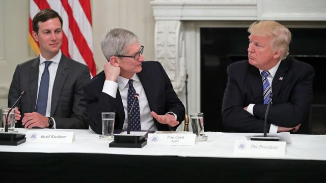 tim cook and trump