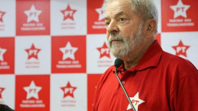 Lula em reunião da Executiva Nacional do Partido dos Trabalhadores (PT), em São Paulo, no início de setembro