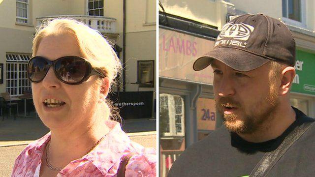 Shoppers in Bridgend