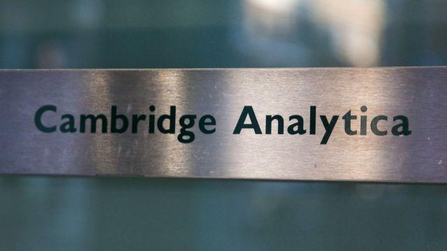 Cambridge Analytica door sign