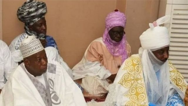 Govnor Ganduje and Emir Sanusi