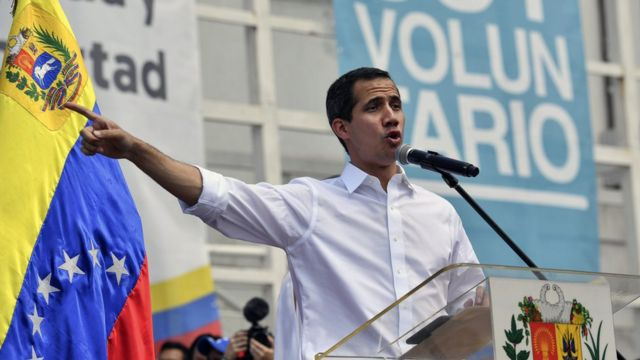 "Juan Guidó, presidente ""encargado"" de Venezuela."