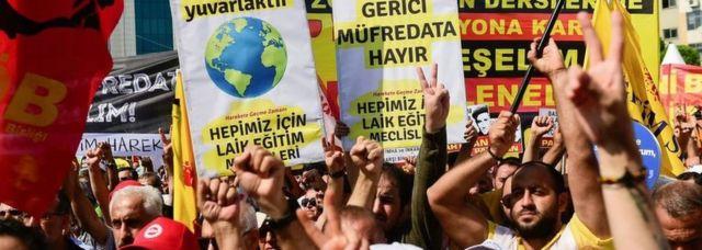 Istanbul curriculum protests