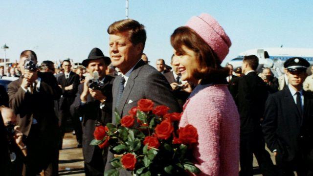 JFK e Jacquie Kennedy em 1963