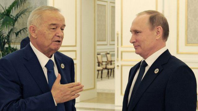 Ислам Каримов и ВладимирПутин