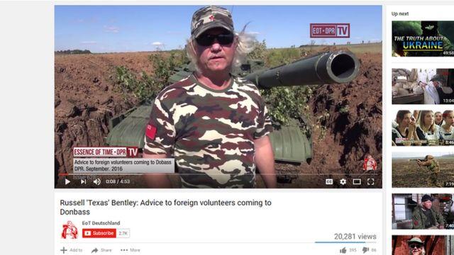 """Бентли распространяет свои видео при помощи российской левопатриотической организации """"Суть времени"""""""