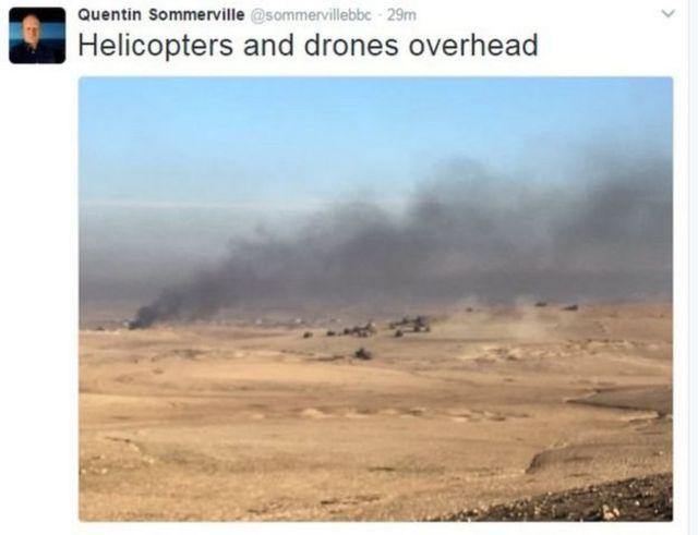 Indege na drones muri Mosul