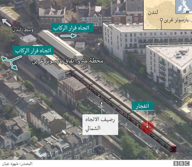 خريطة لموقع الانفجار
