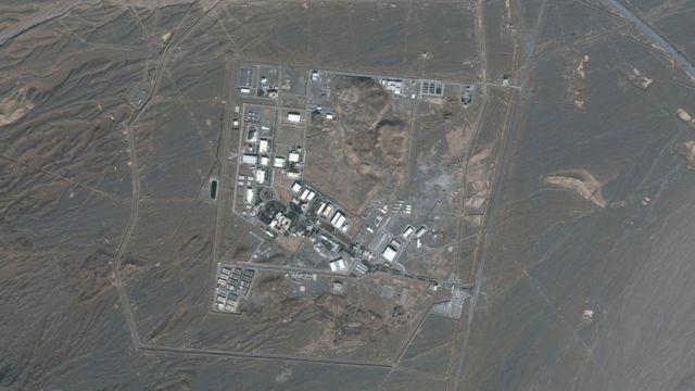 صورة بالأقمار الاصطناعية لمفاعل نظانز الإيراني