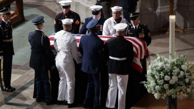 Senator John McCain's funeral at the Washington National Cathedral, 1 September 2018