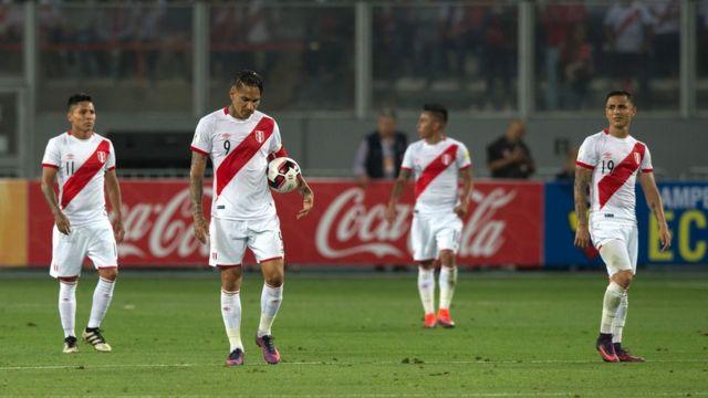 Desilusión de los jugadores peruanos
