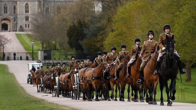 Persiapan pemakaman Pangeran Philip di Kastil Windsor.