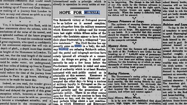 Globe, 9 ноября 1917