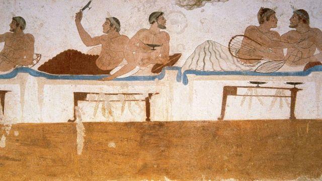 Arte griego Tumba del Buceador siglo V a. C.