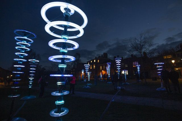 Halo | illumaphnium by artist Michael David in the grounds of Norwich Cathedral