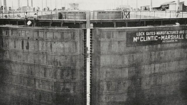 Canal de Panamá en 1913.
