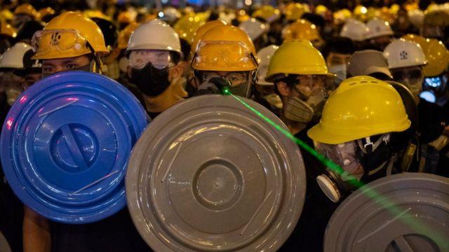 香港示威現場
