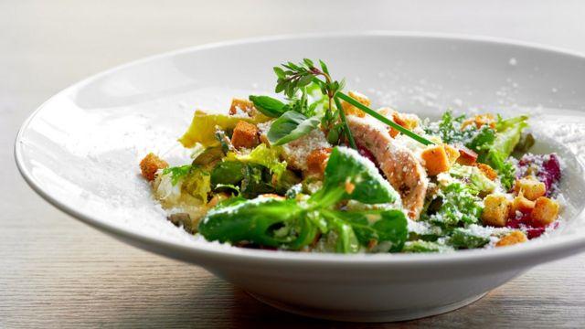 A salad on a plate