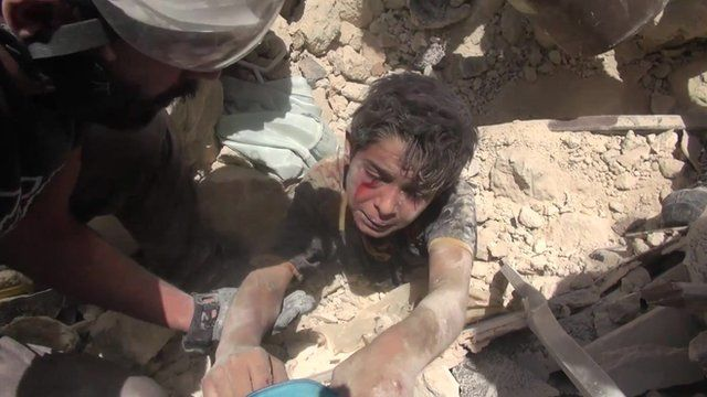 Ahmad was rescued from the rubble