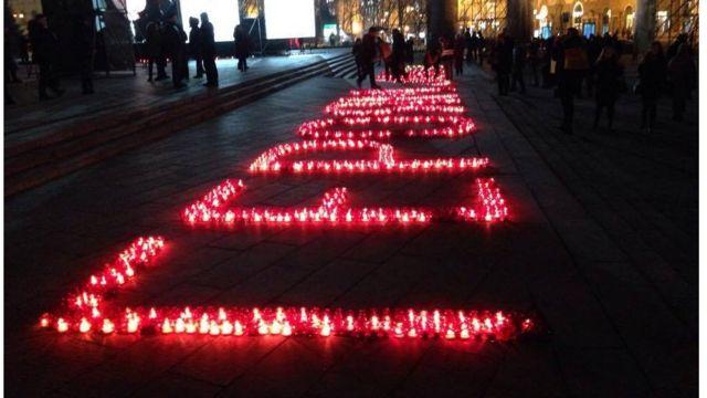 """На Майдані вшановують """"Небесну сотню"""""""
