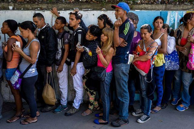 fila en Venezuela