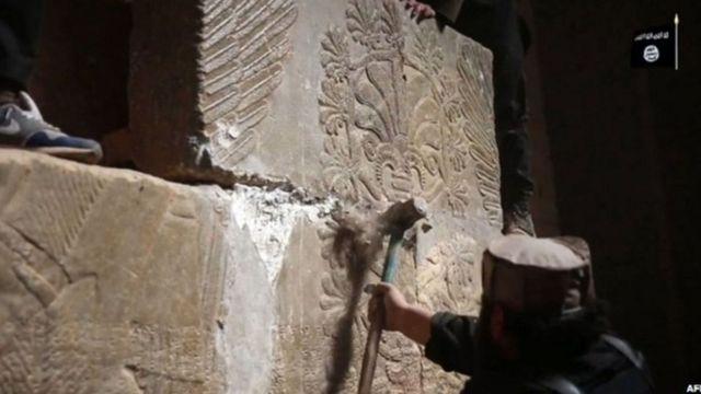 داعش آثار باستانی در شهر نمرود را تخریب کرد