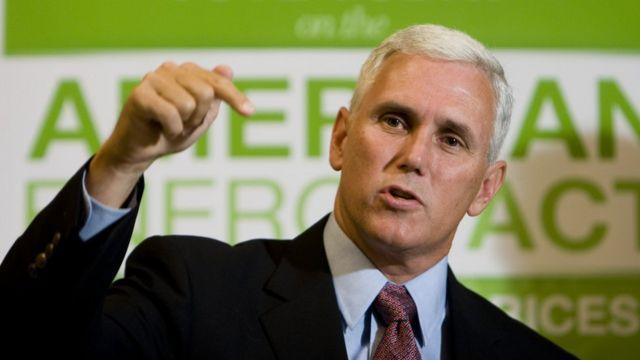 Mike Pence, o governador de Indiana