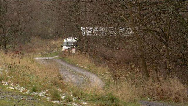Police cordon near Peebles