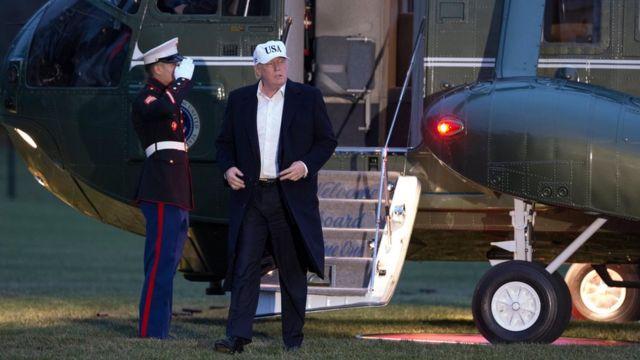 Donald Trump voltando a Washington