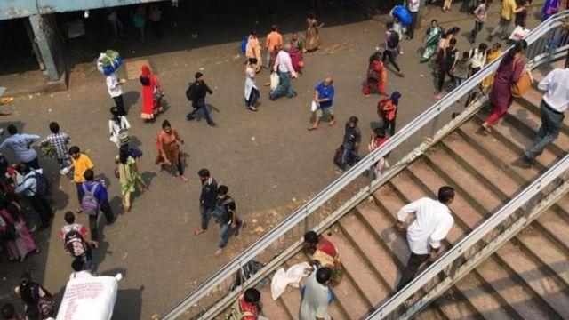 मुंबई में एक रेलवे पुल