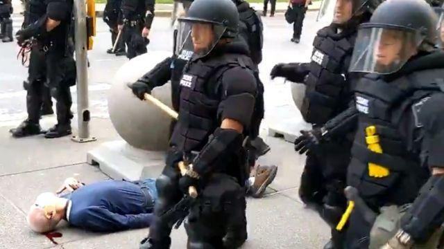 Imagen del video del incidente en Búfalo, Nueva York.