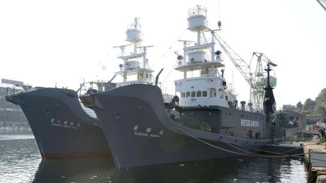 山口・下関港に停泊する「勇新丸」と「第二勇新丸」