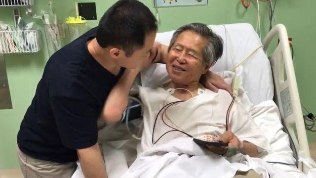 Kenji Fujimori e o pai Alberto Fujimori