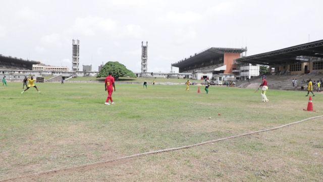 Nigeria national cricket team dey practice for Lagos