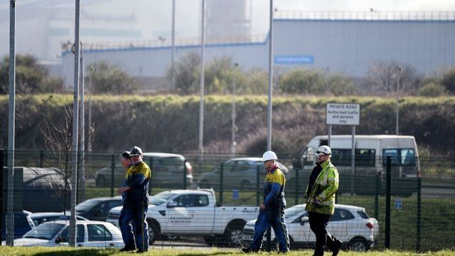 Steelworkers in Port Talbot