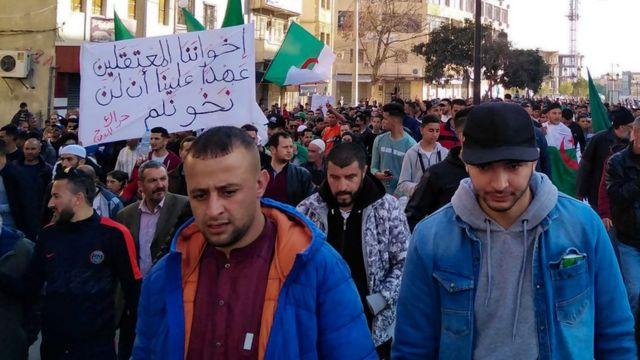 مظاهرات من الحراك الجزائري. صورة أرشيفية
