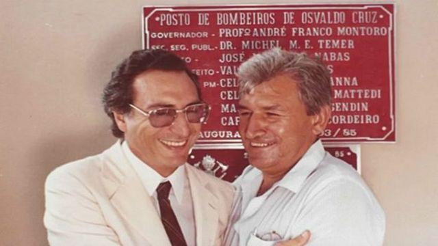 Em inauguração em 1985, ainda na primeira gestão como secretário de Segurança Pública de SP