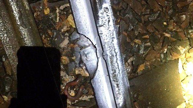 Broken rail