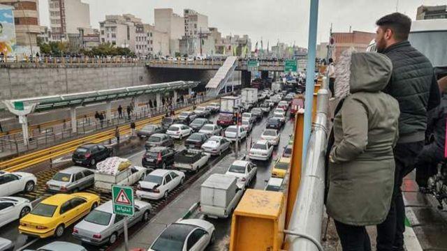 بستن اتوبان امام علی در تهران