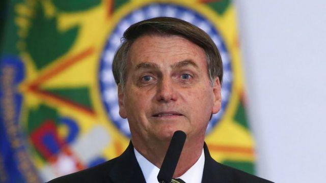 Presidente do país, Jair Bolsonaro.