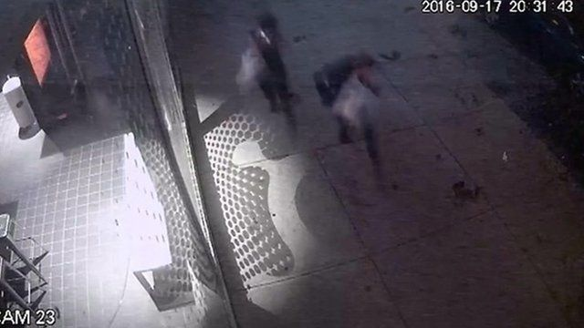 CCTV shows moment of New York City blast
