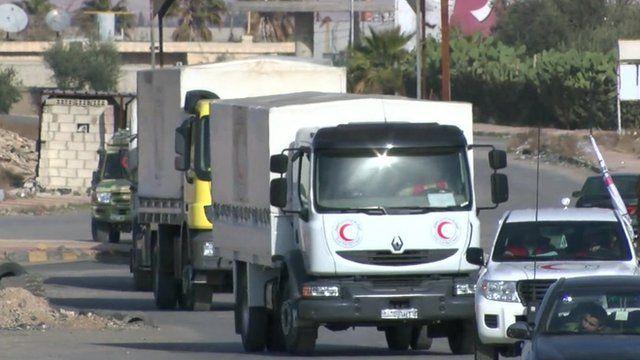 Aid convoy