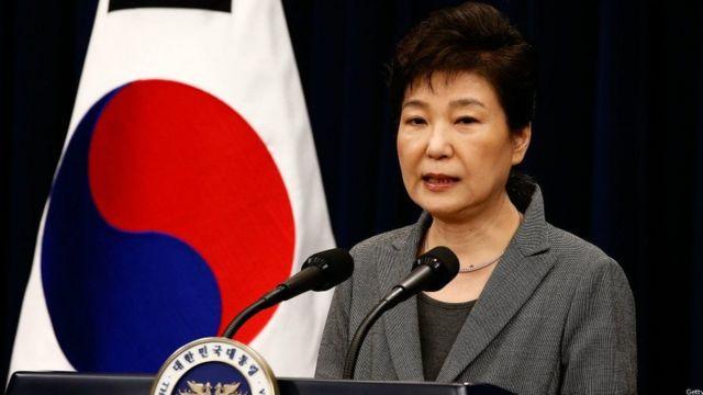 Mme Park s'est dite prête à quitter le pouvoir avant la fin de son mandat, prévue pour 2018