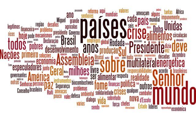 Nuvem de palavras - Lula (2008)