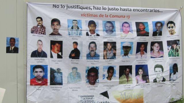 Fotos de desparecidos.