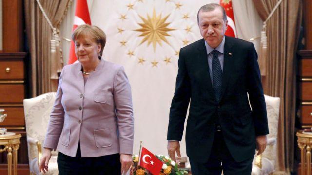 Ángela Merkel, canciller alemana, y Recep Tayyip Erdogan, presidente turco.