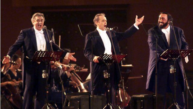 Plácido Domingo, José Carreras y Luciano Pavarotti.